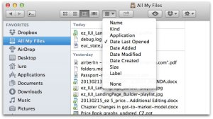 All My Files in Finder